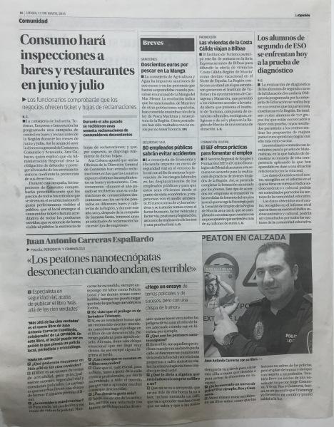 ENTREVISTA CARRIS LA OPINIÓN - T DEL CERRO 10-05-2015